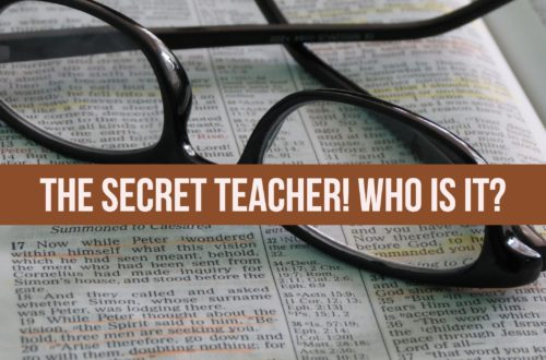 The Secret Teacher! Who is it?!