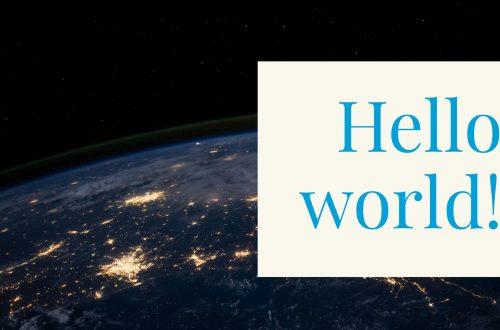 Hello world…