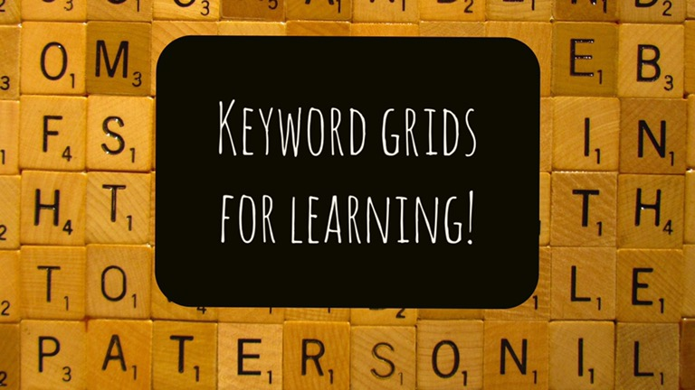 Keyword grids for learning!