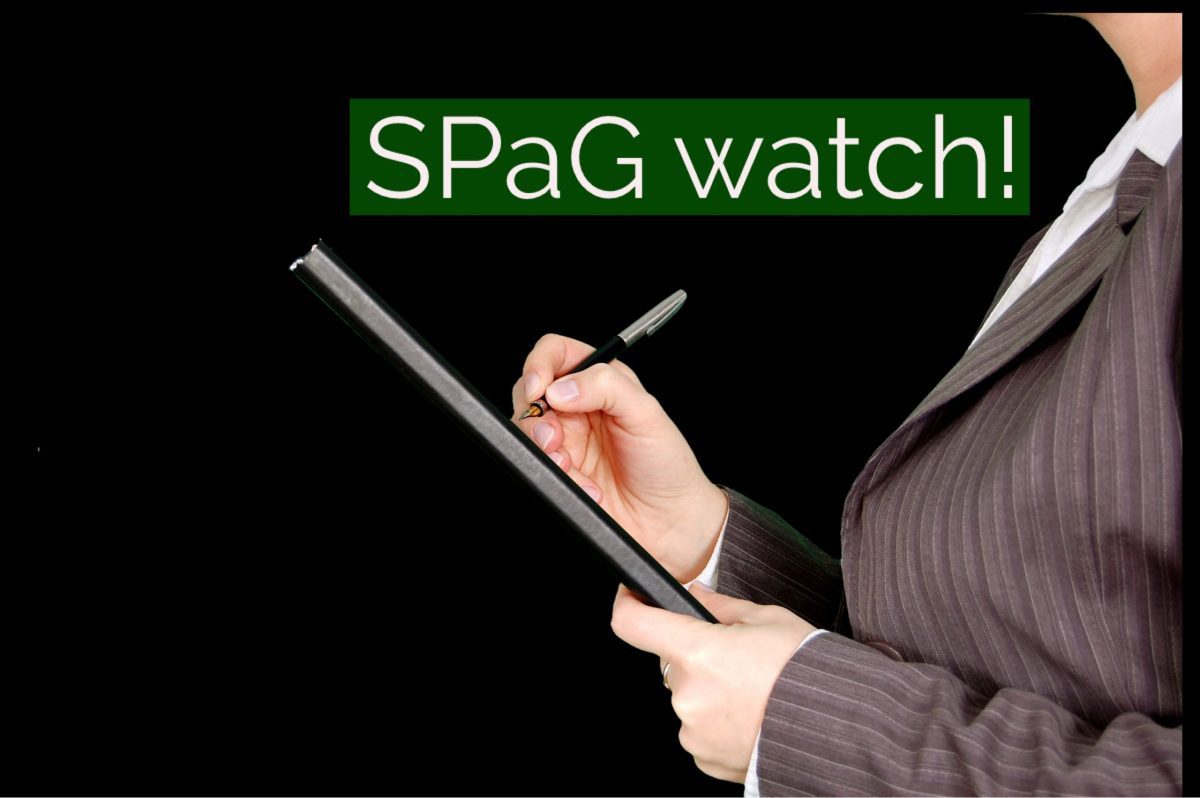 SPaG watch!