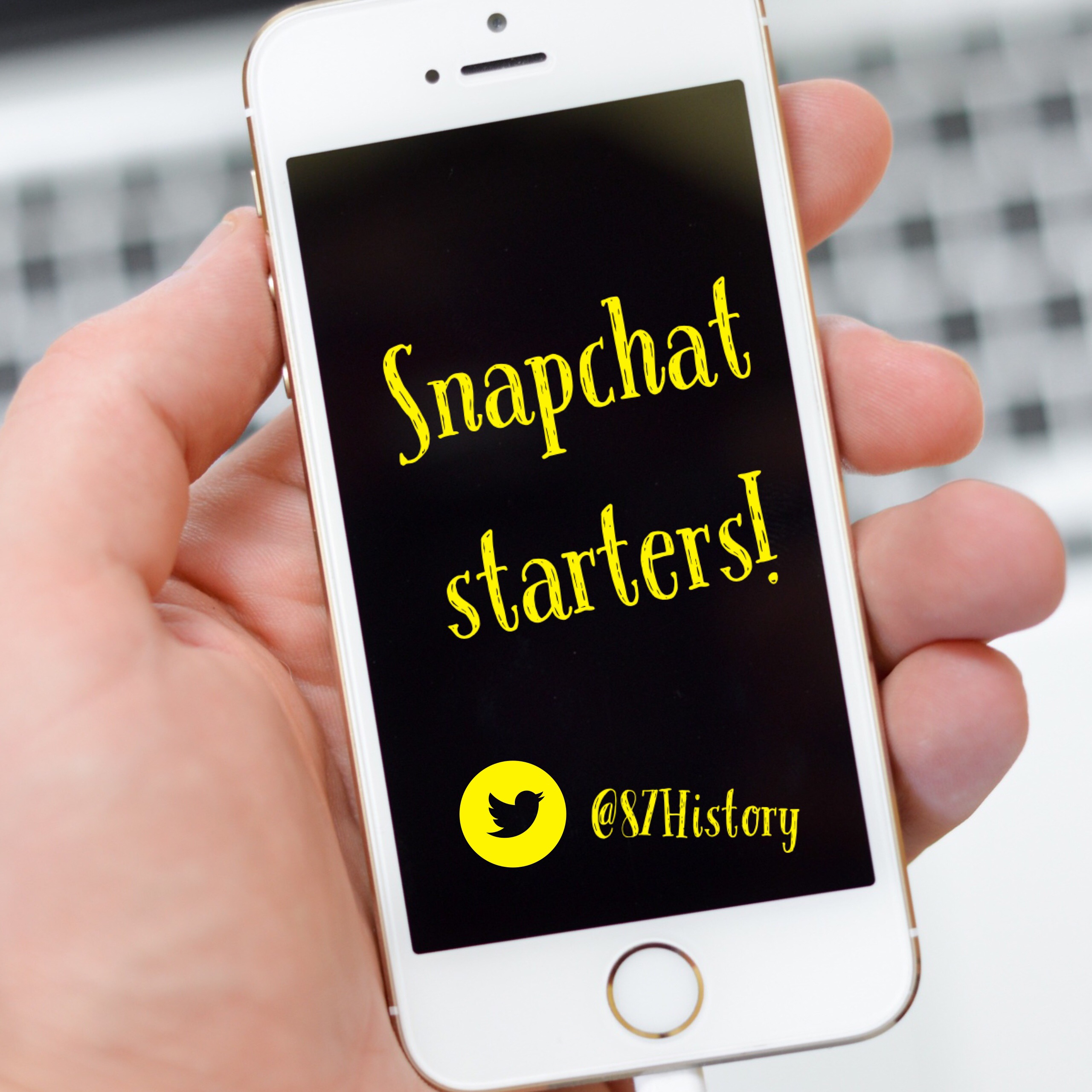 Snapchat starters…