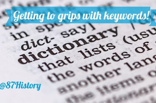 Getting to grips with keywords!