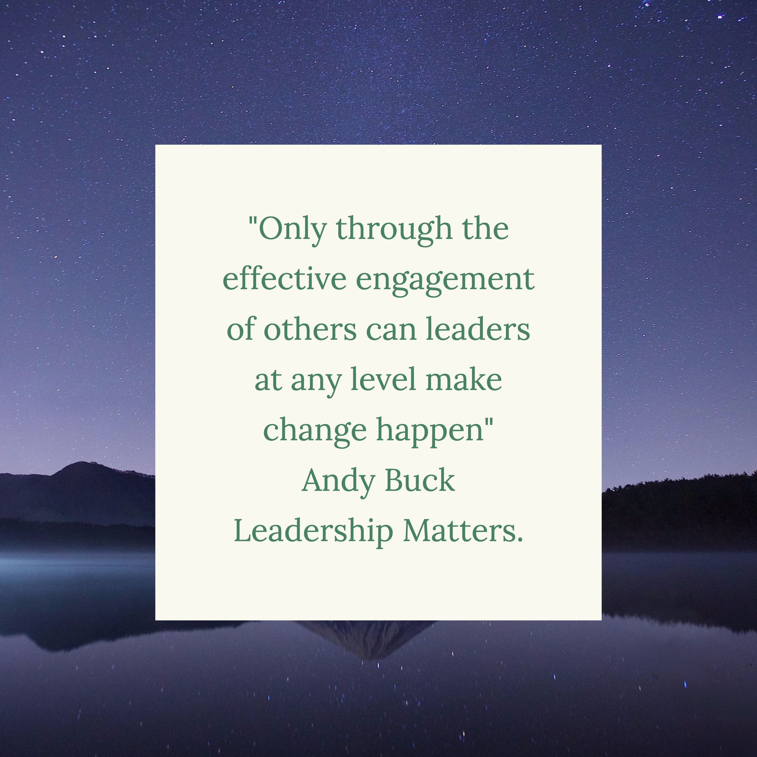 Leadership Matters By Andy Buck Book Review Love To Teach