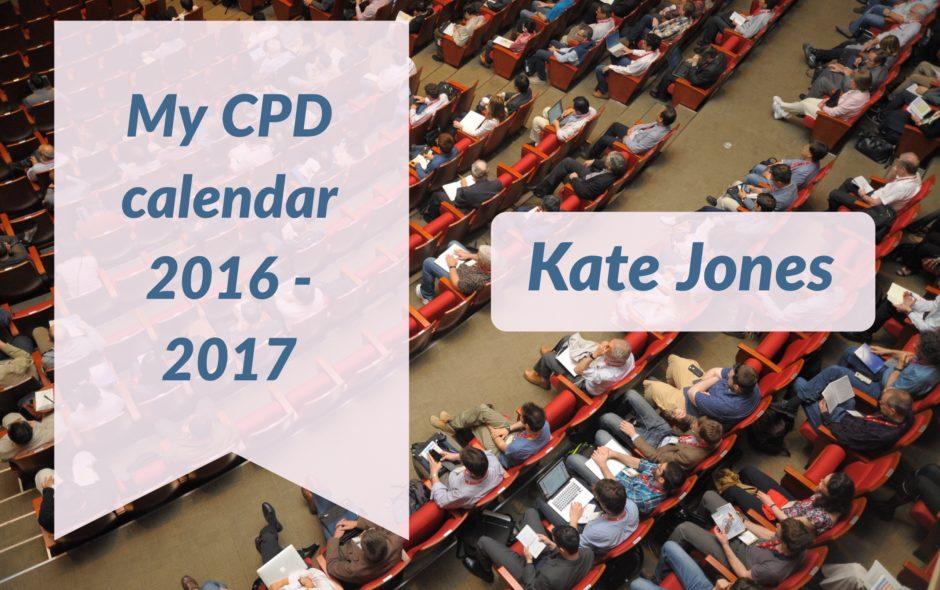 My CPD calendar 2016-17!