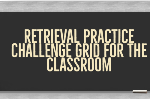 Retrieval Practice Challenge Grids for the classroom